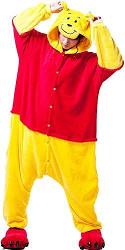 Unisex-adult Kigurumi Onesie POOH Pajamas Festival Gift (Adult Winnie The Pooh Halloween Costume)