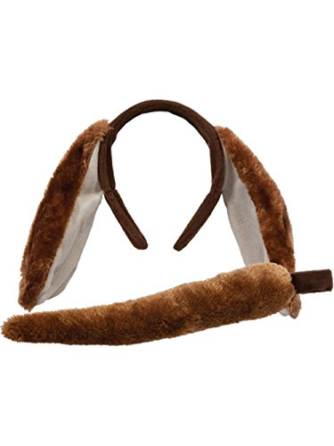 Animal Ears & Tail Set - Dog Kids Unisex (Dog Ear Headband Costume)