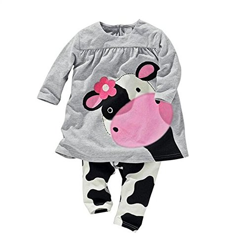 2016 baby girl clothes casual long-sleeved Dress-shirt+Pants suit - Long Sleeved Dresses For Baby