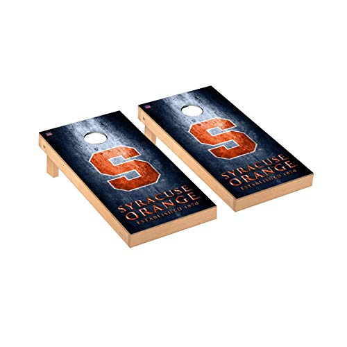 - Victory Tailgate Regulation Collegiate NCAA Museum Series Cornhole Board Set - 2 Boards, 8 Bags - Syracuse Orange