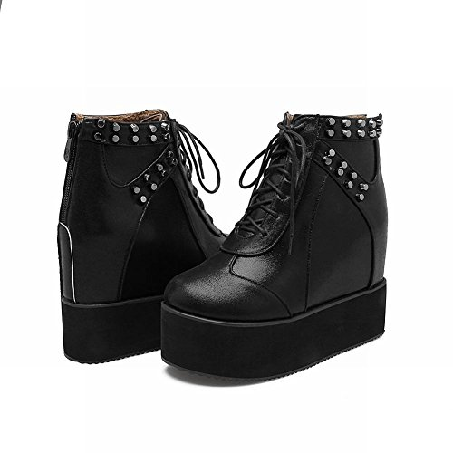 Tacco Alto Flatform Shoes Fashion Scarpe Punk MissSaSa col Donna Nero UTw6qFF