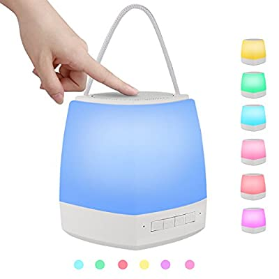 Ashbringer Desk Lamp Wireless Bluetooth Speakers - With Touch Sensor Lamp (Dimmable 3 Level Warm White Light & Six Color Changing RGB), Bedside Table Lamps With TF Card ,MP3 Speakers, Hands-free