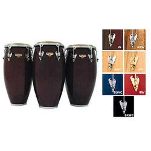 LP Matador M754S-W Wood 12 1/2'' Tumbadora (Dark Brown/Chrome) by Latin Percussion