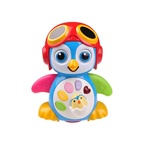 Musical Dancing Penguin Toy for Boys & Girls Kids or Toddlers Aged 1 2 3 4 5 TG655 - Features Different Modes, Lights, Sounds - Fun Storytelling Toy by ThinkGizmos (Trademark Protected)