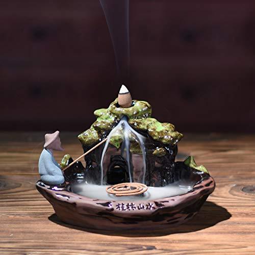 Eforlife Ceramic Incense Holder Backflow Censer Home Decoration (Guilin Scenery) by Eforlife (Image #5)