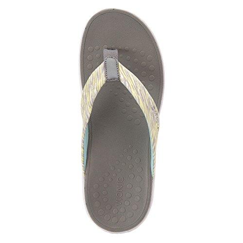 Vionic Serene Kapel mujeres open toe sintético morado Flip Flop sandalias Gris Amarillo
