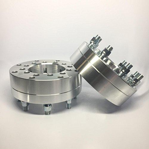 Customadeonly 2pc 2.5 Inch Wheel Adapters   6X135 to 8X170   6 Lug to 8 Lug Hub Centric w/Lip