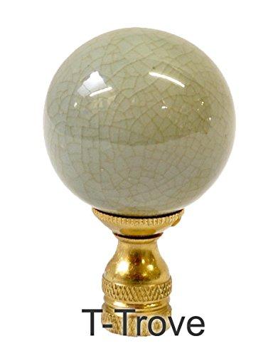 Porcelain Ball Finial - Celedon Porcelain Ball Finial