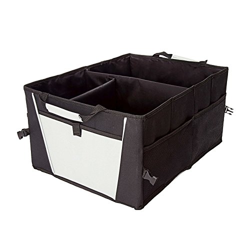 TriGear Water Resistant Collapsible Trunk Storage Organizer Bin with Pockets for Truck, SUV, Minivan, Van, Hatchback, Car, Auto, Folding Bag 21 x 14.75x 10 (Truck Storage Bins)
