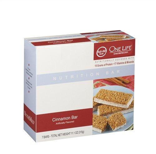 Корица Белковые батончики, с высоким содержанием белка, 17 Витамины и минералы-One Диета жизнь (7 Бары в коробке)