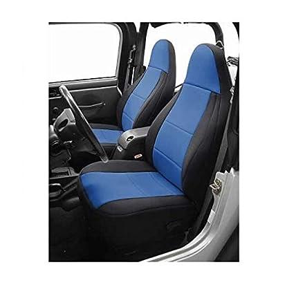 Jeep Wrangler Seats >> Coverking Custom Fit Seat Cover For Jeep Wrangler Tj 2 Door Neoprene Black Blue