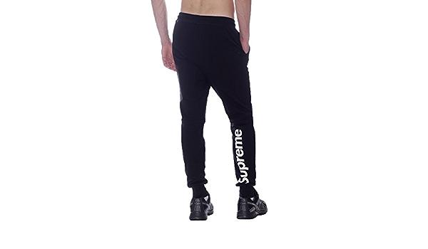 Supreme Pantalon Deportivo Para Hombre Negro Medium Amazon Es Ropa Y Accesorios