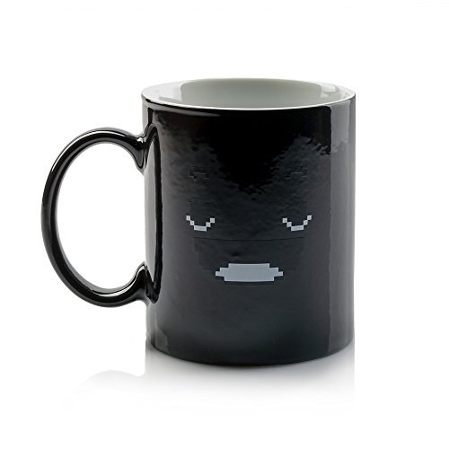 InGwest Home. Morning Coffee Mug. 11 ounce. Changing Color Mug for you and your friend. Ceramic Heat Sensitive Color Changing Coffee Mug. Novelty Heat Sensitive Mug With Funny Smile by InGwest Home (Image #8)