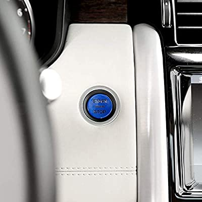 ABS Replacement Car Engine Start Stop Switch Button Trim For Land Rover Discovery 5 LR5 L462 2020 2020 Range Rover Sport VOGUE (blue): Automotive