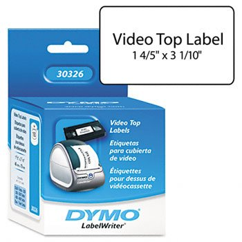 DYMO® Labels for LabelWriter® Label Printers LABEL,VHS TOP,WE (Pack of6)