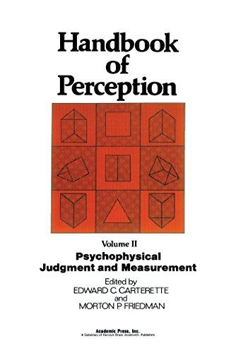 psychophysical judgment and measurement carterette edward