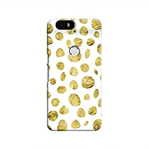 Cover It Up - White Pale Gold Pebbles Nexus 6P Hard case