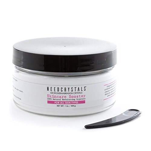 NeedCrystals Microdermabrasion Face Scrub. Natural Facial Exfoliator for Dull or Dry Skin Improves Acne Scars, Blackheads, Pore Size, Wrinkles, Blemishes & Skin Texture. 1 lb