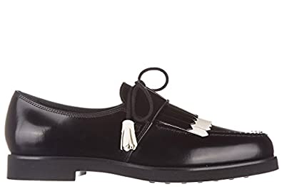 Tod's women's classic leather lace up laced formal shoes rubber xl allacciata de low-cost