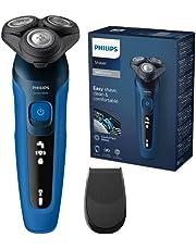 Philips Elektrisch Scheerapparaat Series 5000 - Volgt gezichtscontouren - Geavanceerd Display - Nat en droog - 50 Minuten Draadloos scheren - Precisietrimmer - Eenvoudig reinigen - S5466/18