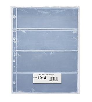 Pardo 101400 - Pack de 10 fundas para colección variada, 4 alojamientos: Amazon.es: Oficina y papelería