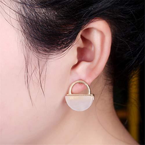 (Sinfu Fun Earrings,Women's Vintage Colorblock Basket Ear Hook Earrings Stud Earrings Jewelry (Pink))