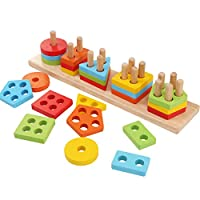 Peg board Shapes Puzzle 38pc Fun toddler toys for 1 year old Xmas Holiday Gift