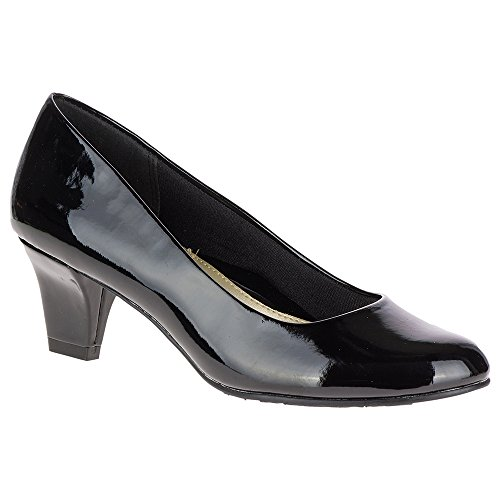 Soft Style Shoes - Soft Style by Hush Puppies Women's Gail Dress Pump, Black Patent, 9 W US