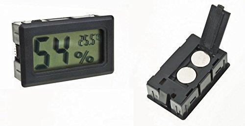 Thermometer/Hygrometer, digital mit LCD, fü r Wein- oder Zigarrenkeller DC
