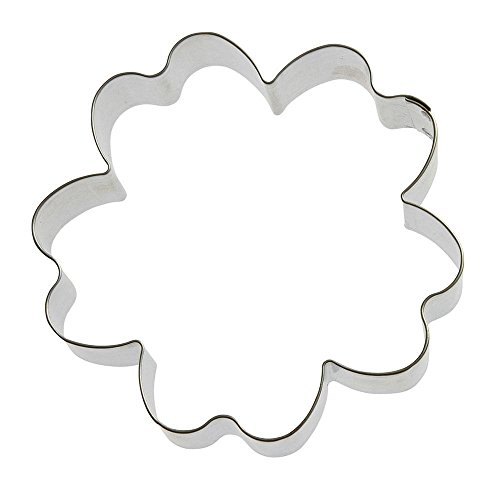 Hibiscus Cookie Cutter 3.75 in B1648 - Foose Cookie Cutters - USA Tin Plate Steel