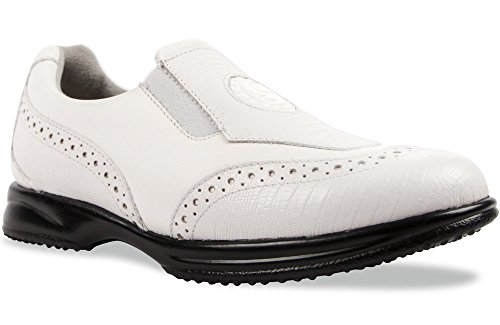 Sandbaggers Madison Women's Golf Shoe (White Lizard, 7) by Sandbaggers