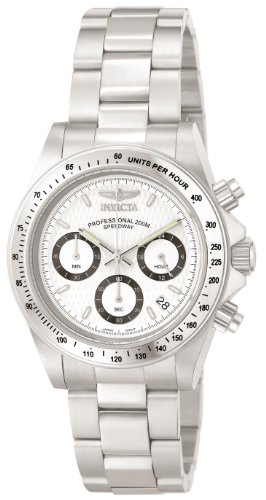 peedway Collection Stainless Steel Chronograph Watch with Link Bracelet ()