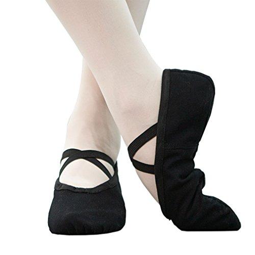 WELOVE Ballet Slipper Shoes Pointe Canvas Split Sole Practice Ballet Dancing Gymnastics Shoes Ballet Flat Slipper Yoga Shoes US8 Ballet Flats Womens Shoes