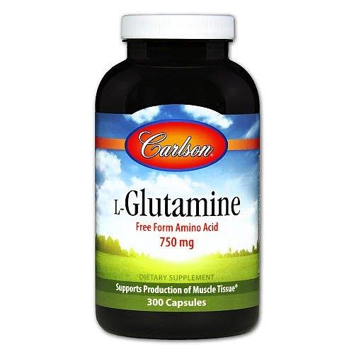 Carlson Labs L-Glutamine, 750mg, 300 Capsules