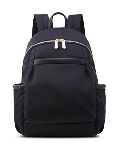 Small Fashion Backpack Purse For Women Girls lightweight Mini College School Bag (Small, Black(Golden Color Zipper))