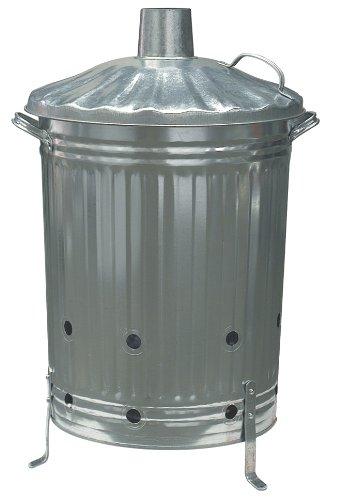 CrazyGadget 72 x 46 cm Diameter Metal Composter/Incinerator - Silver Parasene 9051