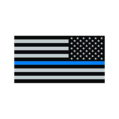 fagraphix Reverse Thin Blue Line Subdued American Flag Sticker Self Adhesive Vinyl Decal Law Police USA US