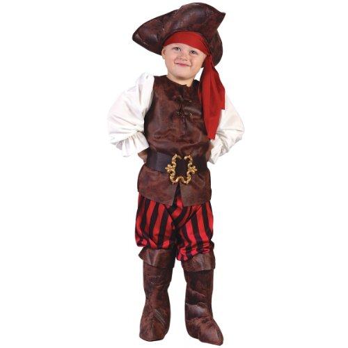 Fun World Costumes Baby Boy's Toddler Boy Highseas Buccaneer Costume, Brown/White, Small -