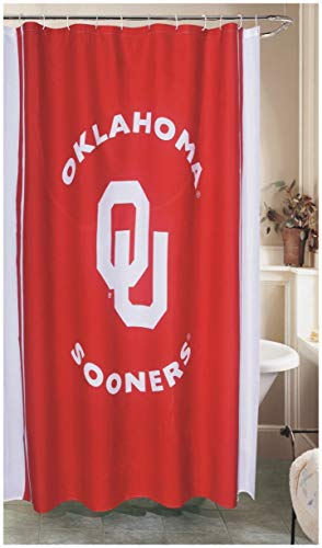 (Belle View NCAA College Football Patterned Shower Curtains, 71