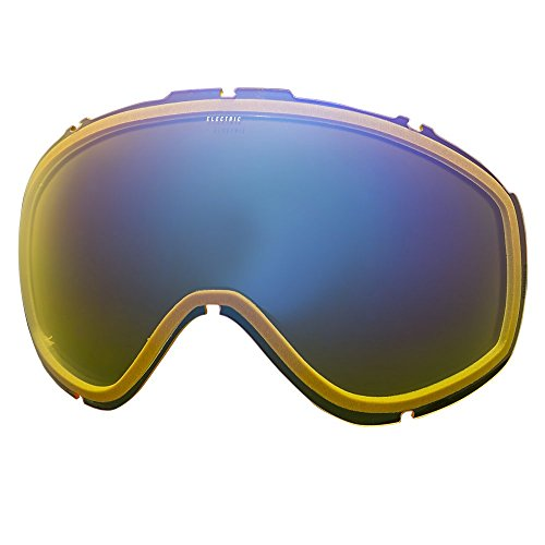 Electric Visual Masher Yellow/Blue Chrome Snow Goggle - Electric Goggles Uk