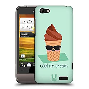 Head Case Designs Cool Ice Cream Food Mood Protective Snap-on Hard Back Case Cover for HTC One V