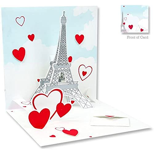 3D Greeting Card - EIFFEL TOWER - Valentine's Sales