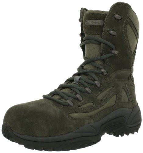 Response 8 Inch Side Zipper (Reebok Work Men's Rapid Response RB8990 Work Boot,Sage Green,12 W US)