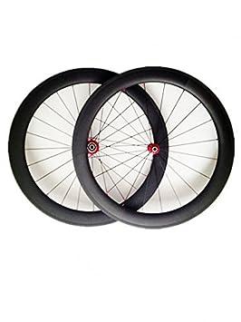 YouCan bicicleta 700 C ruedas de carbono 60 mm Clincher para bicicleta de carretera DT Swiss Hub Sapim radios delantero y trasero, 25mm: Amazon.es: Deportes ...