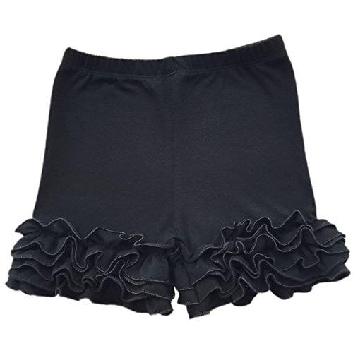Little Girl Double Icing Ruffle Cotton Shorts Bike Sport Bottom Pants (Ruffle Shorts For Girls)
