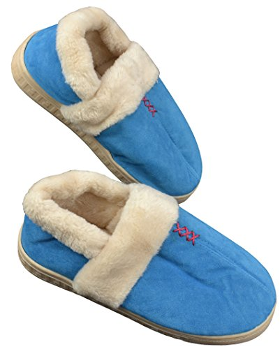 Mode Pluche Woninginrichting Warme Pantoffels Blauw
