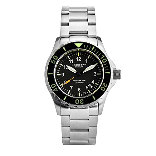 - I.Concept Japan Automatic tritium GTLS Self Luminous Sapphire Diver Watch