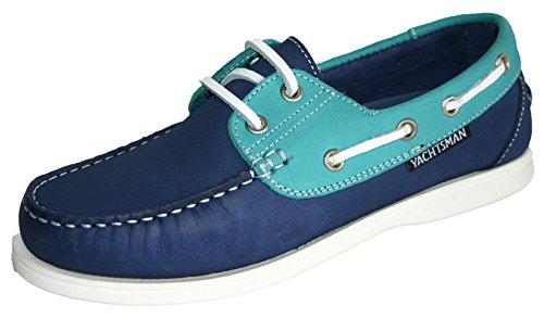 Chaussures bateau en nubuck pour femme Taille 37–41 - - Jade/Indigo,