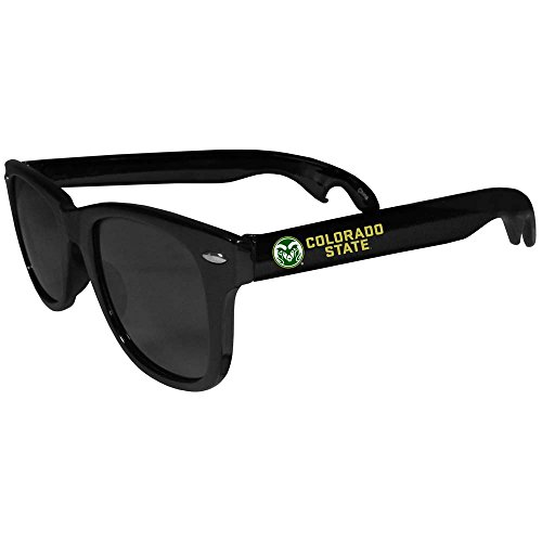 Rams Beachfarer Bottle Opener Sunglasses, Black (Ncaa Colorado State Rams Glass)