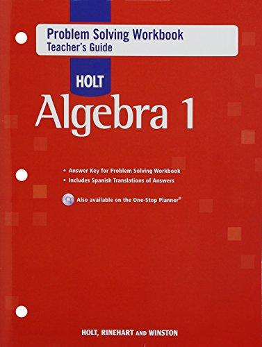 Problem Solving Workbook: Algebra 1, Teacher Edition